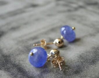 Earrings / 14k Gold Filled Gemstone Earrings / Tanzanite Earrings / Autumn Accessories / Jewelry / Classic Dangle Earrings