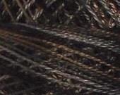 Size 8, P11, Valdani Perle Cotton, Aged Black