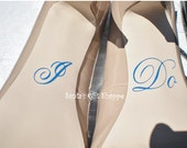 I Do Vinyl Decals - (SHOES NOT INCLUDED) - Wedding Day Decals - Brides Shoes - Something Blue - Bridal Shower Gift