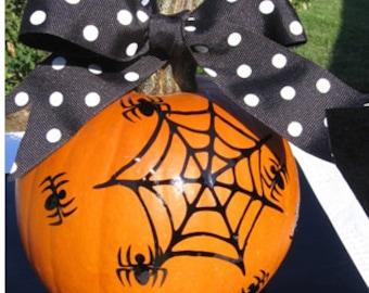 Halloween Spiders - Spider Web Decal - Vinyl Decals for Pumpkins - Halloween Decorations - Trick or Treat - Pumpkin Decal - Home Decor