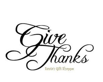 Give Thanks - Vinyl Decal - Thanksgiving - Home Decor - DIY
