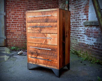 Reclaimed Wood Single Column Dresser