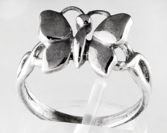Butterfly Sterling Silver Ring