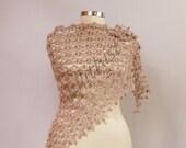 Crochet Shawl, Wedding Shawl, Bridal Wrap, Triangle Shawl, Wedding Bridal Shrug Shawl Bolero, Cover Up, Women Accessories Gift For Her