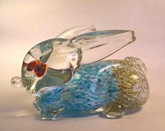 A Vintage Murano Art Glass Rabbit T40