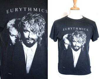 80s Rare Vintage Eurythmics Shirt // 1986 Annie Lennox Tee // Concert T-Shirt // 80's New Wave Band Tee