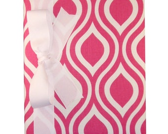 Tight Bound Baby Memory Book - Hot Pink Groovy Print