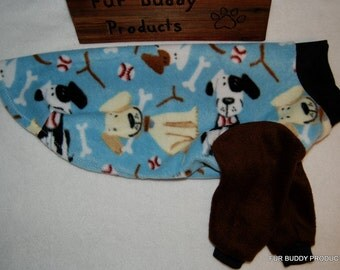 """Clearance 18"""" Fleece Sweater for Italian Greyhounds and similar structure dogs.  Same Day Shipping"""