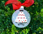Disney Wedding Ornament - Personalized Hand Painted Christmas Glass Ornament, Just Married in Disneyland, Disney Ornament, Wedding Gift