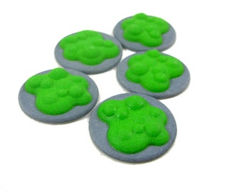 Flash Point Board Game Chemical Spill Token, Toxic Waste or Poison for board games and RPGs, set of 5