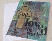 For God So Loved (Christian card)
