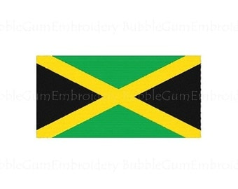 Jamaica Flag Embroidery Design Instant Download