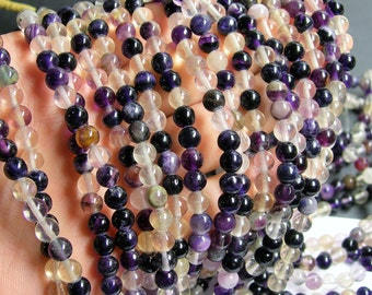 Fluorite - 6mm round beads - full strand - 68 beads - fluorite - RFG371