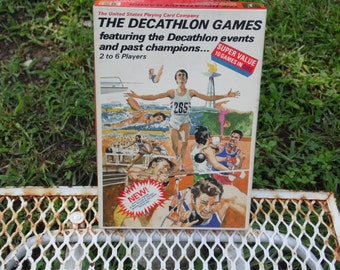 The Decathlon Games 1983 featuring the Decatholon events and past champions 2 to 6 players The United States Playing Card Company complete