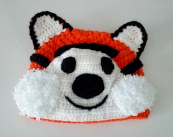 Hobbes tiger hat-Tiger Hat -Knitting Baby  Hat  - for Baby or Toddler-boy halloween costume