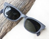handmade install the prescription sunglasses lenses Wood grain black acetate