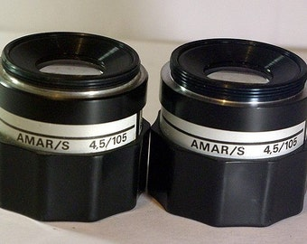 Two enlarger lenses AMAR (4,6/105)  M42