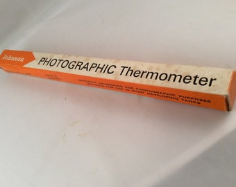 Vintage Photographic Thermometer With Box