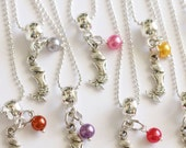 Mermaids Party Necklaces Pearls 10 Charm Party Favor  Mixed Colors Necklaces Children Jewelry, Under the Sea Party, Mermaid Theme Party