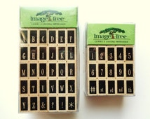 Rubber Stamps Alphabet Numbers Rubber Stamping Scrapbooking