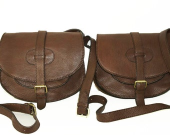 Leather Bag Messenger / Goldmann size L in dark brown