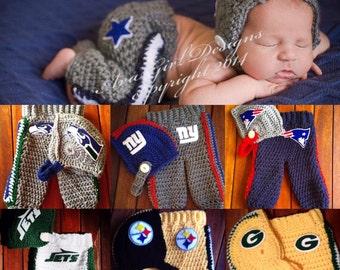 Baby  football helmet pant set - baby football helmet pant - Dallas Cowboys - Seahawks -Steelers - NY Giants - Packers - NYJets - Patriots