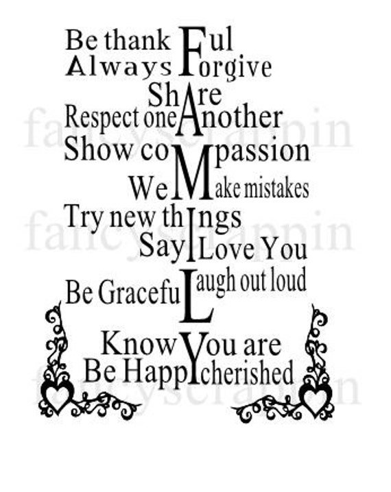 Family Word Art Svg Cutting File