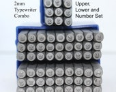 Metal Stamp Set-2mm Typewriter Font Combo Set Upper, Lower and Numbers-Brand New- Metal Stamping-Supplies by Metal Supply Chick