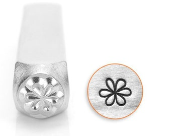 Whimsy Flower Metal Stamp ImpressArt- 6mm Metal Design Stamp-Perfect for Your Hand Stamping Needs-Steel Stamps