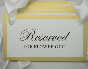 Reserved Seating Sign for Attendants and Special Guests during your Wedding Ceremony and Reception
