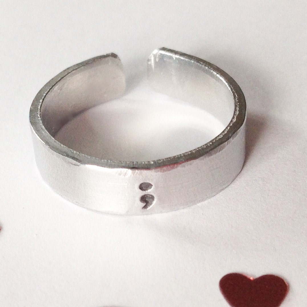 Semicolon Ring Etsy