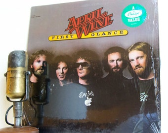 """ON SALE April Wine Vinyl Record Album LP 1970s Canadian Arena Rock and Roll """"First Glance"""" (1978 Capitol Re-Issue w/""""Roller"""" & """"Get Ready Fo"""