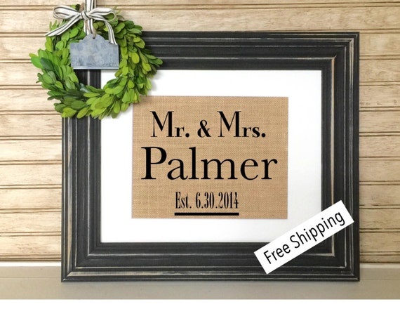 Personalized Wedding Gifts For Couple : Personalized Wedding Gift for Couple Bridal Shower Gift Rustic ...