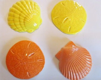 Mosaic tiles-Sandollar-Sea Shells- tiles - mosaic tile - ceramic, handmade