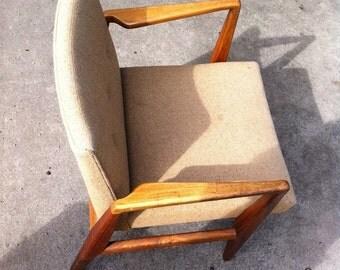 Jens Risom Walnut Side Chair 1968