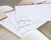 Recipe Cards - Definition of a Family
