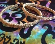 HEMP CHOKER, unisex, any length, natural hemp cord, hippie, boho, custom hemp necklace, macrame jewelry, basic hemp choker