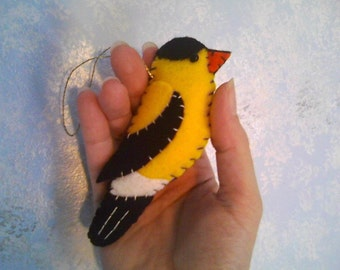 American Goldfinch Felt Ornament