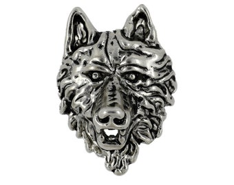 Wolf Concho Silver Metal Rivet Set - 1.58 inch - 1 piece