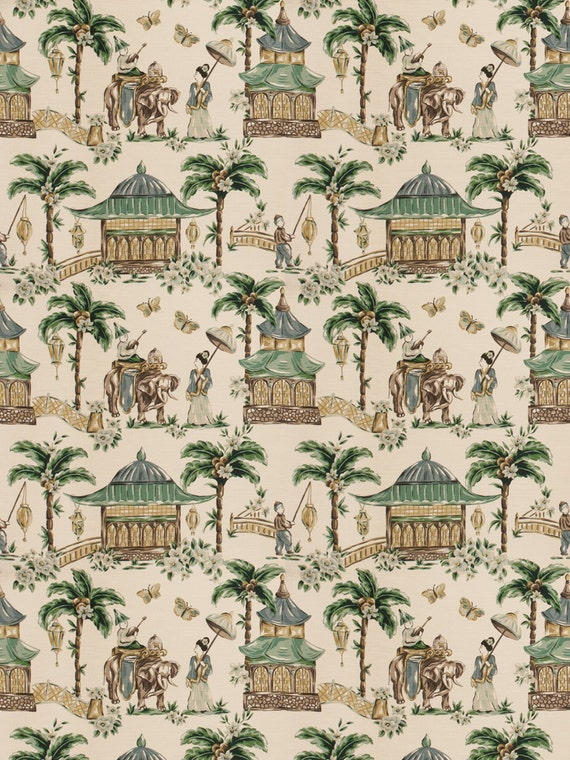 Mougin Cypress Home Decor Chinoserie Print Multipurpose