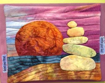 Serenity Rocks : art quilt pattern / tutorial