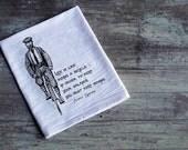 SALE! Life is like riding a bike flour sack towel