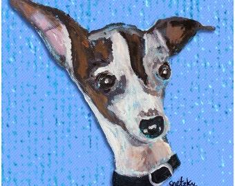 Italian Greyhound Print