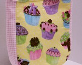 Girls Cupcake Tote Bag, Book or Toy bag Birthday Teen Cupcake Handbag