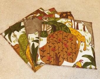 Cloth Wipes- Jungle- Set of 10- 15027