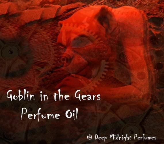 GOBLIN in the GEARS Perfume Oil - Blood Orange, Anise, Vanilla - Gothic perfume