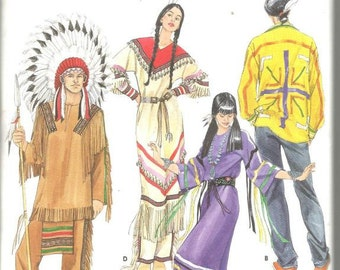 Native American Costumes Cosplay Theatrical Costumes Simplicity 5446 Uncut FF Andrea Schewe Mens Womens Teens All Sizes Sewing Pattern