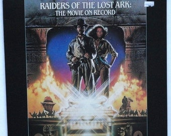 "Rare ""Raiders of the Lost Ark: The Movie on Record"" Vinyl LP (1981) - Excellent Condition"