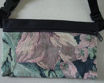 Flower Tapestry Travel-Lite Hip Pack,Southwest Handbags,Flower Handbags