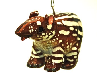 Baby Tapir Christmas Ornament